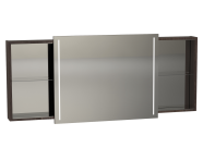 58995 - Memoria Illuminated Mirror Cabinet, with Sliding Door, 150 cm, Metallic Mocha