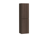 58996 - Memoria Tall Unit with Door, Metallic Mocha, Left