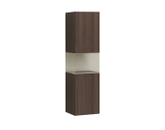58998 - Memoria Tall Unit with Pull-Out Mechanism, Metallic Mocha