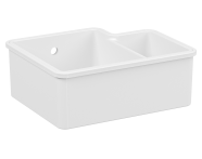 5936B003-0012 - Undercounter Sink, 55 cm, 1.5 bowl, without tap hole, with overflow hole, white