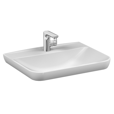 Sento   Vanity basin, 65 cm, with one tap hole, with overflow hole, white