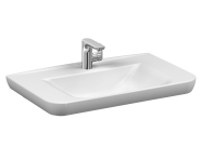 5947B003-0001 - Sento   Vanity basin, 80 cm, with one tap hole, with overflow hole, white