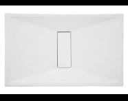 59650010000 - Slim 140x080 Dikdörtgen Monoblok Sifon, Krom Gider Kapağı