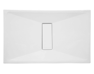 59760010000 - Slim 120x080 Dikdörtgen Monoflat, Sifon, Krom Gider Kapağı