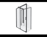 59880022000 - Zest Sliding Shower Unit 120x90 Right Black
