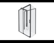 59880024000 - Zest Sliding Shower Unit 120x90 U Wall Left Black
