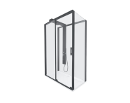 59880025000 - Zest Sliding Shower Unit 120x90 U Wall Right Black
