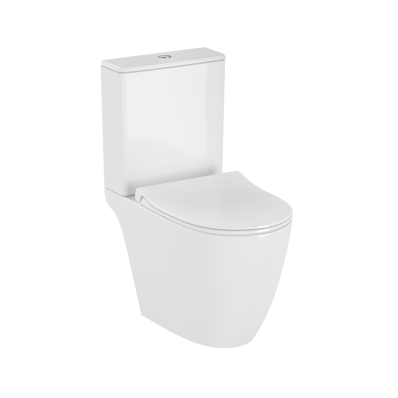 Sento   Rim-ex Close-coupled WC Pan, open back, 65 cm, universal outlet, white
