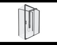 59890025000 - Zest Sliding Shower Unit 160x90 U Wall Right Black