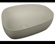 5991B420-0016 - Outline Asimetrik Lavabo, Mat Bej