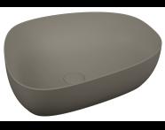 5991B450-0016 - Outline Asimetrik Lavabo, Mat Gri
