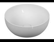 5992B401-0016 - Outline Yuvarlak Lavabo, Mat Beyaz