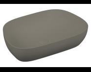 5993B450-0016 - Outline Tv Lavabo, Mat Gri