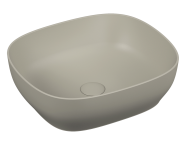 5994B420-0016 - Outline Square Bowl Washbasin, Matte Taupe