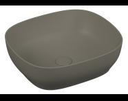 5994B450-0016 - Outline Kare Lavabo, Mat Gri