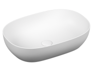 5995B401-0016 - Outline Oval Bowl Washbasin, Matte White
