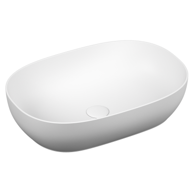 Outline Oval Bowl Washbasin, Matte White