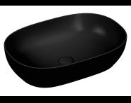 5995B483-0016 - Outline Oval Lavabo, Mat Siyah
