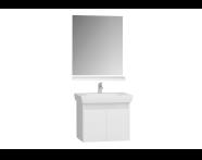60048 - Optima 60 cm Set, Parlak Beyaz, (Çekmeceli Lavabo Dolabı, Ayna, Raf)