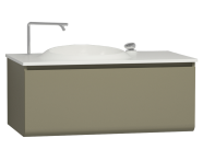 60069 - Istanbul Washbasin Unit 100 cm Olive Green