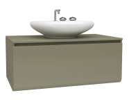 60071 - Istanbul Washbasin Unit, 100 cm, Olive Green High Gloss