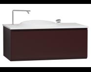 60073 - Istanbul Washbasin Unit 100 cm Burgundy