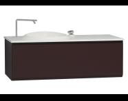 60074 - Istanbul Washbasin Unit 120 cm Burgundy