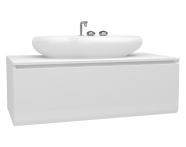 60076 - Istanbul Washbasin Unit, 120 cm, Burgundy High Gloss