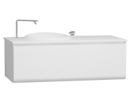 60078 - Istanbul Lavabo dolabı, 120 cm, Parlak Beyaz