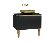 60087 - Gala Classic Washbasin Unit 80 cm Black-Gold