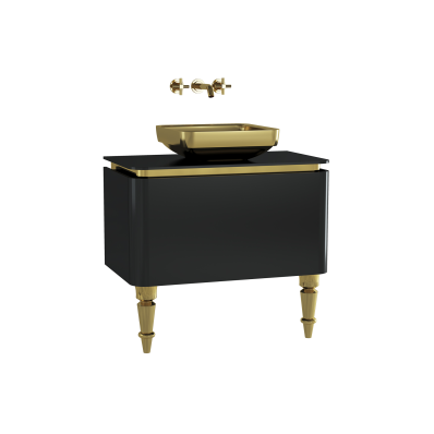 Gala Classic Washbasin Unit 80 cm Black-Gold