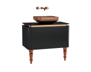 60089 - Gala Classic Washbasin Unit 80 cm Black-Copper