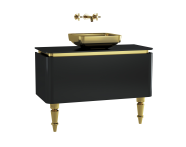 60090 - Gala Classic Washbasin Unit 100 cm Black-Gold
