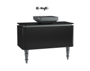 60091 - Gala Classic Washbasin Unit 100 cm Black-Chrome