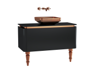 60092 - Gala Classic Washbasin Unit 100 cm Black-Copper