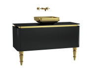 60093 - Gala Classic Washbasin Unit 120 cm Black-Gold