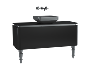 60094 - Gala Classic Washbasin Unit 120 cm Black-Chrome