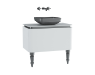 60097 - Gala Classic Washbasin Unit 80 cm White-Chrome