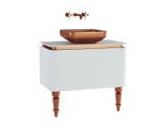 60098 - Gala Classic Washbasin Unit 80 cm White-Copper
