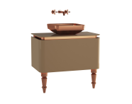 60107 - Gala Classic Washbasin Unit 80 cm Beige-Copper