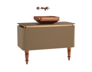 60110 - Gala Classic Washbasin Unit 100 cm Beige-Copper