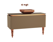 60113 - Gala Classic Washbasin Unit 120 cm Beige-Copper