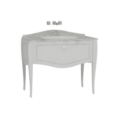 Elegance Washbasin Unit 100 cm, Matte White, Countertop Basin