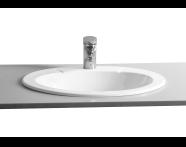 6030B003-0001 - Arkitekt Tezgah Üstü Lavabo, 60 cm