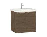 60312 - Ecora Washbasin Unit, with Door, Including Basin, 60 cm, Oak