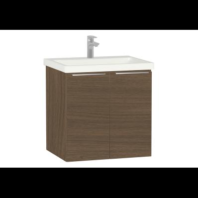 Ecora Washbasin Unit, with Door, Including Basin, 60 cm, Oak