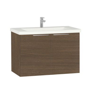 Ecora Washbasin Unit, with Door, Including Basin, 90 cm, Oak