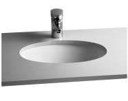 6039B003-0012 - S20 Tezgah Altı Lavabo, 42 cm Armatür Deliksiz, Su Taşma Delikli