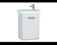 60779 - Sento lavabo dolabı, kapaklı, ayaksız, 50 cm, mat beyaz, sol