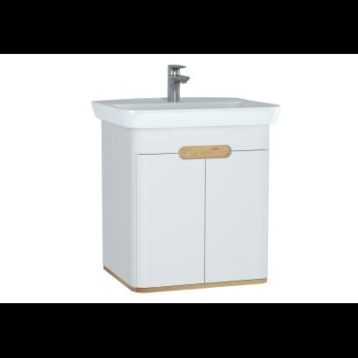 Sento lavabo dolabı, kapaklı, ayaksız, 65 cm, mat beyaz